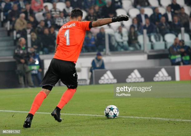 Rui Patricio during Champions League match between Juventus and Sporting Clube de Portugal in Turin on October 17 2017