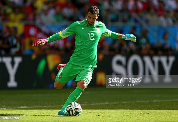Rui Patricio of Portugal in action during the 2014 FIFA World Cup Brazil Group G match between Germany and Portugal at Arena Fonte Nova on June 16...