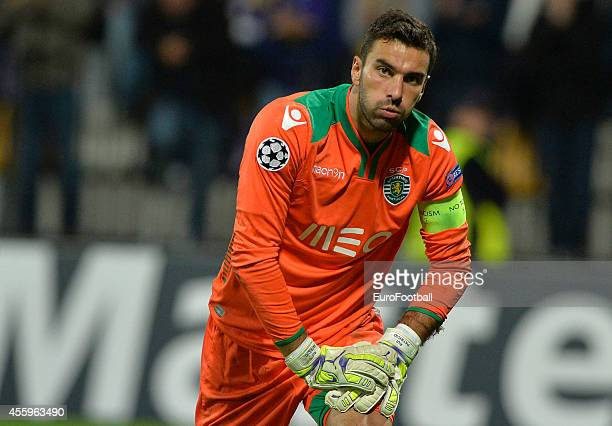 Rui Patricio of Sporting Clube de Portugal during the UEFA Group G Champions League football match between NK Maribor and Sporting Lisbon at the...