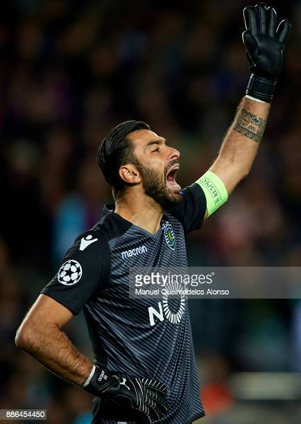 Rui Patricio of Sporting CP reacts during the UEFA Champions League group D match between FC Barcelona and Sporting CP at Camp Nou on December 5 2017...