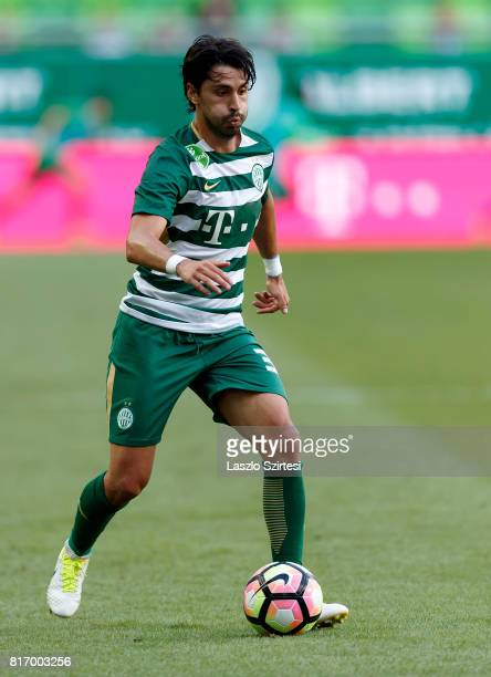 Rui Pedro of Ferencvarosi TC controls the ball during the Hungarian OTP Bank Liga match between Ferencvarosi TC and Puskas Akademia FC at Groupama...
