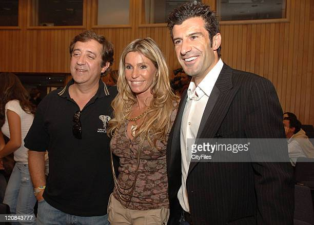 "Rui Veloso Cinha Jardim and Luis Figo during ""Swatch Perfect World"" Launch in Lisbon in Lisbon Portugal"
