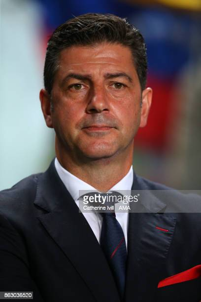 Rui Vitoria manager of Benfica during the UEFA Champions League group A match between SL Benfica and Manchester United at Estadio da Luz on October...