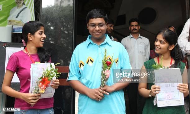 Ruia College toppers Asawari Phadke Navneet Mehrol and Madhura Pitre