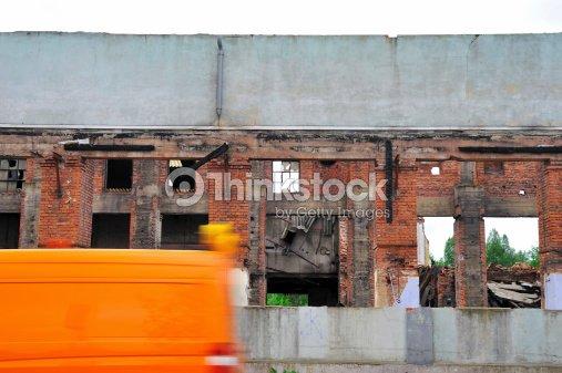 Ruin And Car Stock Photo