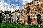 ruin of a castle in Masuria, eastern Poland
