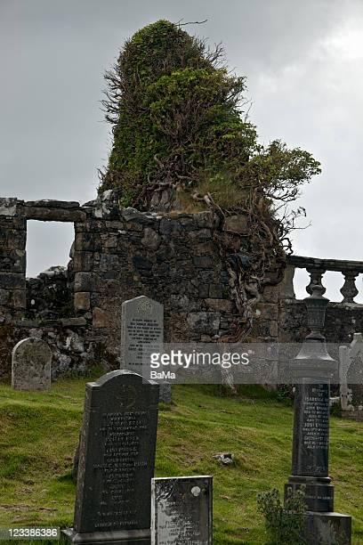 Ruined Ancient Church and Graveyard, Scotland, UK
