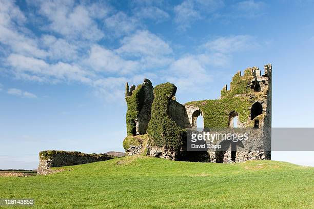 Ruined castle at Ballycarbery, County Kerry, Republic of Ireland