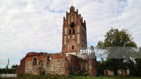 Ruined Church, Allenou : Foto stock