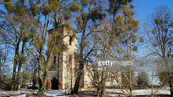 Ruined Church, Borchersdorf : Foto stock