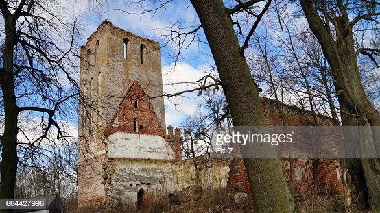 Ruined Church, Böttchersdorf : Foto stock
