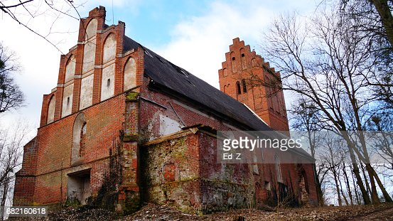 Ruined Church, Donnow : Foto stock