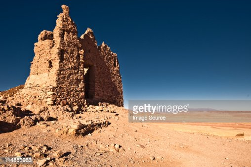 Ruined grain store, Ait-Ben-Haddou, Morocco, North Africa