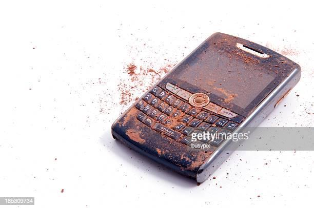 Arruinado teléfono inteligente