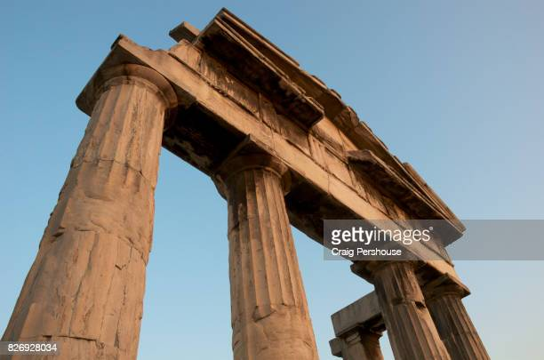 Ruined temple in Roman Agora.