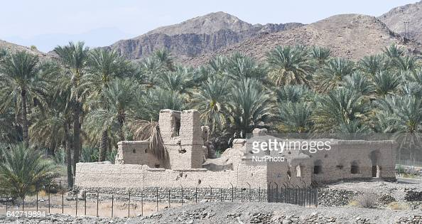 Ruines of an old house near the road between Yorekh and Al Saih On Saturday February 18 in Samail Ad Dakhiliyah Region Oman