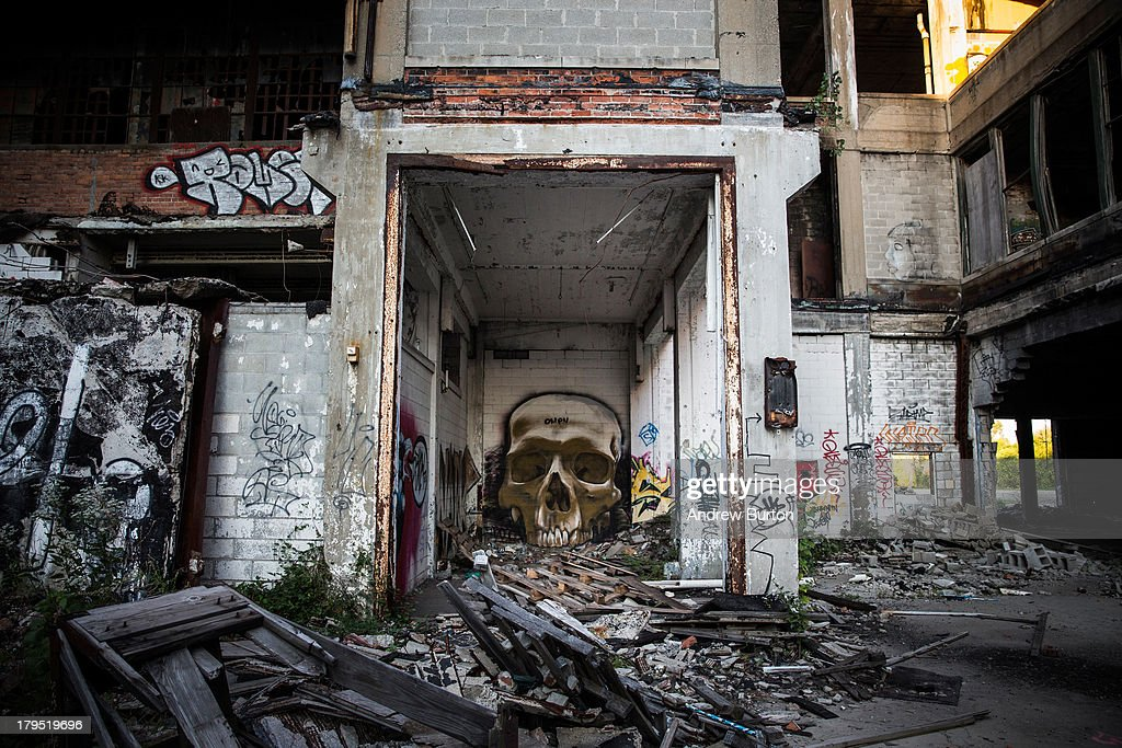 Ruins at the abandoned Packard Automotive Plant are seen on September 4 2013 in Detroit Michigan The Packard Plant was a 35 million square foot car...