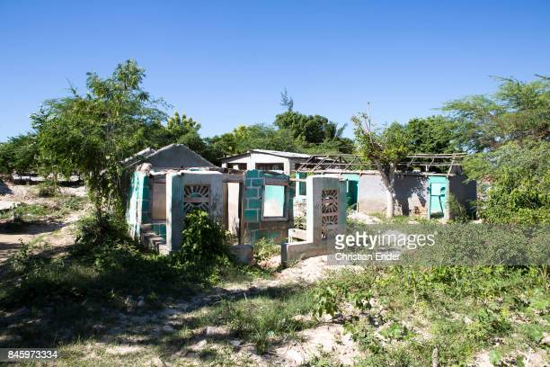 PortauPrince Haiti December 09 2012 Ruins in a damaged village destroyed from the devastating earthquake in 2010 near PortauPrince Also this area was...