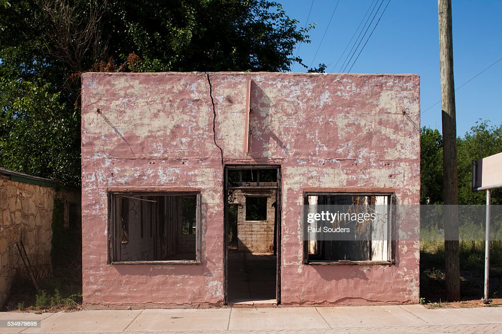 Ruins of abandoned store in Texas