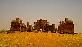 Ruins of Amun temple Naqa Meroe, ancient Kush, Sudan