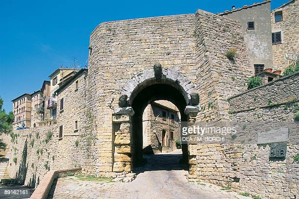 Ruins of an archway Porta All'Arco Volterra Italy