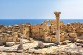 Ruins of ancient Kourion at sunset, Limassol District. Cyprus