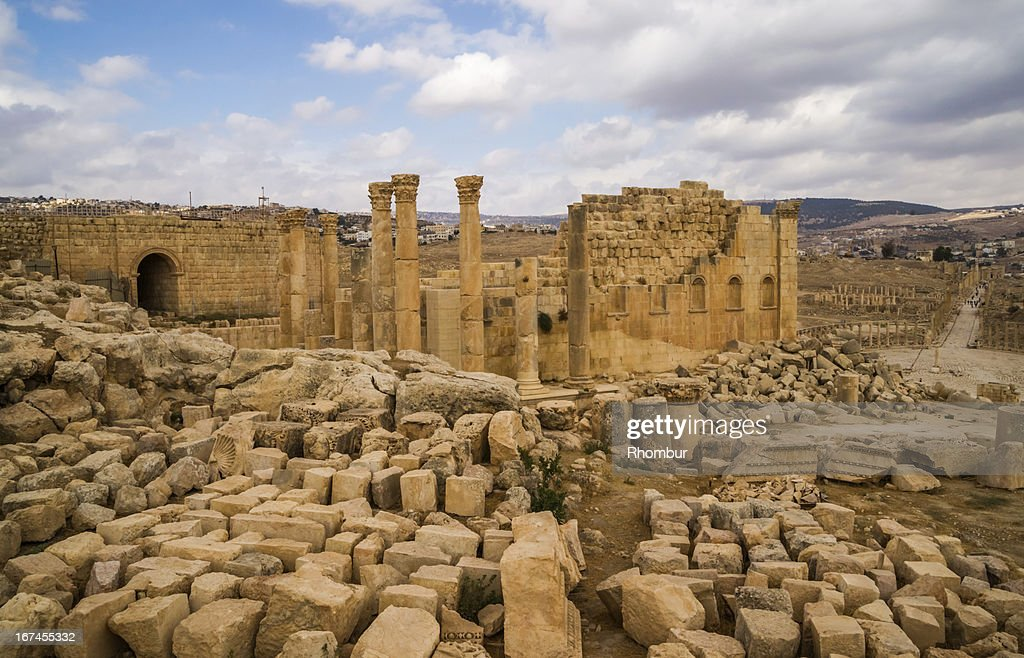 Ruins of antique Gerasa : Stock Photo