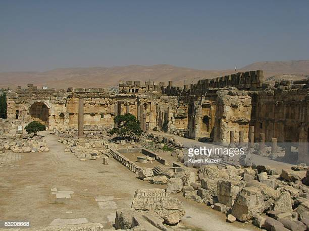 Ruins of Bacchus Temple situated in the main compoundThe Temple of Bacchus is considered the bestpreserved Roman temple of its size is part of...