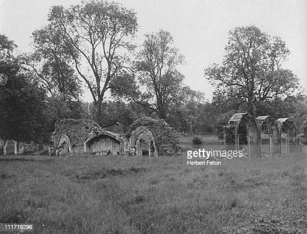 Ruins of cloisters at Hailes Abbey Winchcombe Gloucestershire circa 1930 Founded in 1246 by Richard Earl of Cornwall 2nd son of John King of the...