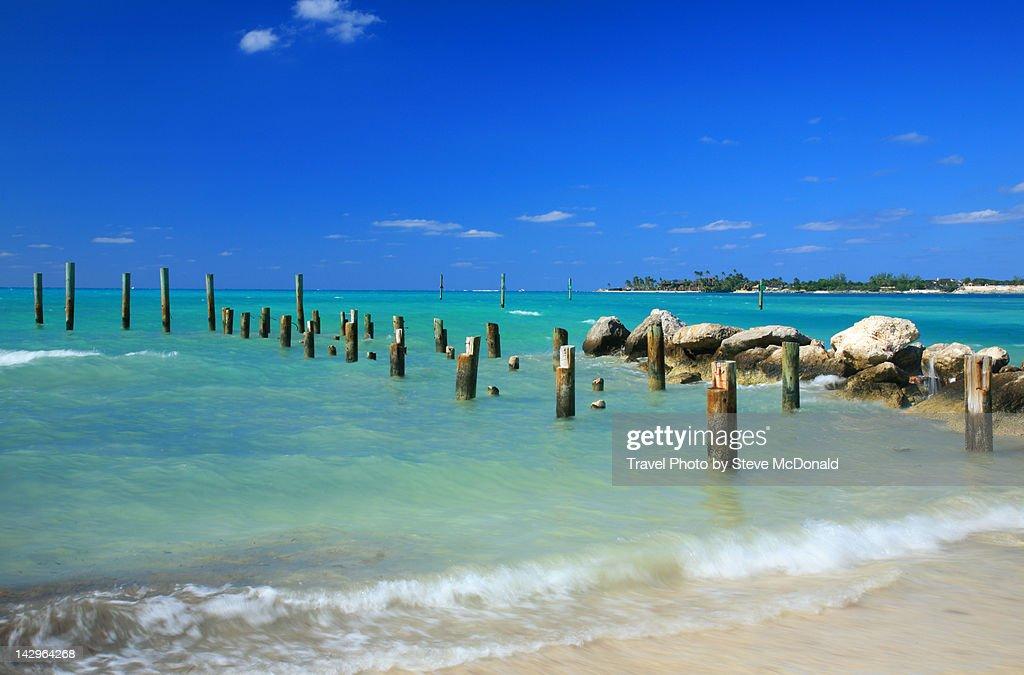 Ruins of jetty : Stock Photo