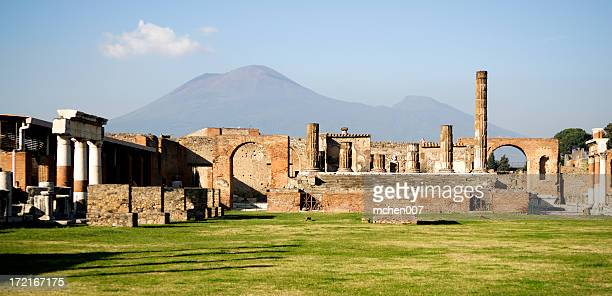 Ruins of Pompei and Mt. Vesuvius
