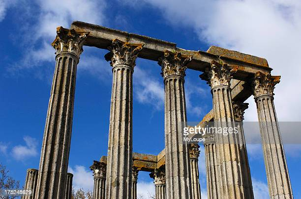 Ruins of Roman temple of Diana at Evora Alentejo Portugal