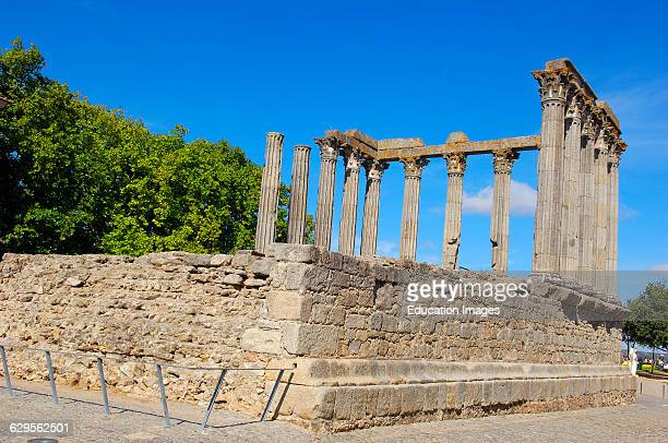 Ruins of Roman temple of Diana Evora Alentejo Portugal