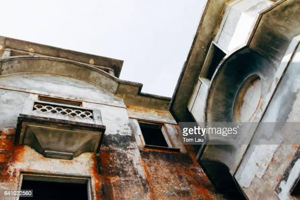 Ruins of the Bokor Palace hotel, near Kampot, Cambodia