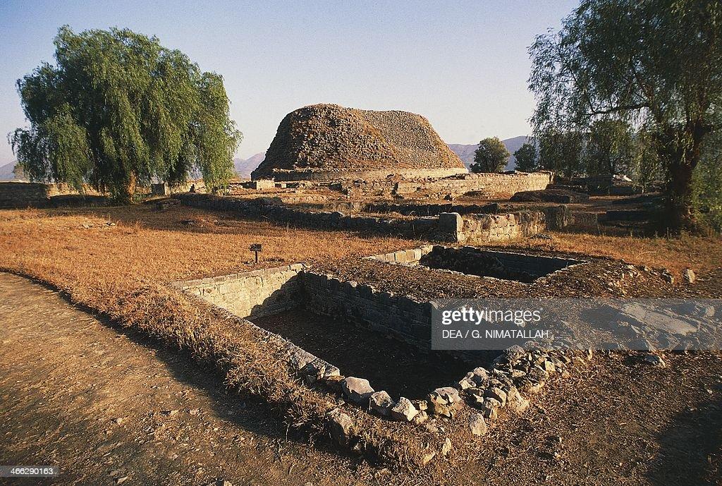 Ruins of the Dharmarajika stupa Taxila 3rd2nd century BC