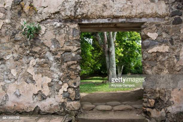 Ruins of the Historic  Church of Ujarras in the Orosi Valley, Costa Rica, Central America
