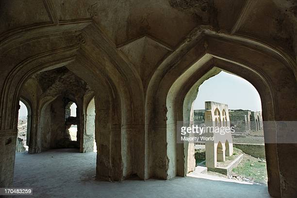 Ruins of the historic Golconda fort one of the most magnificent fortress complexes in India which lies on the western outskirts around 11km from...