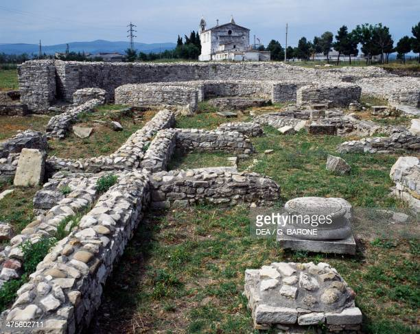 Ruins of the Roman baths Venosa Basilicata Italy Roman civilisation 2nd century BC