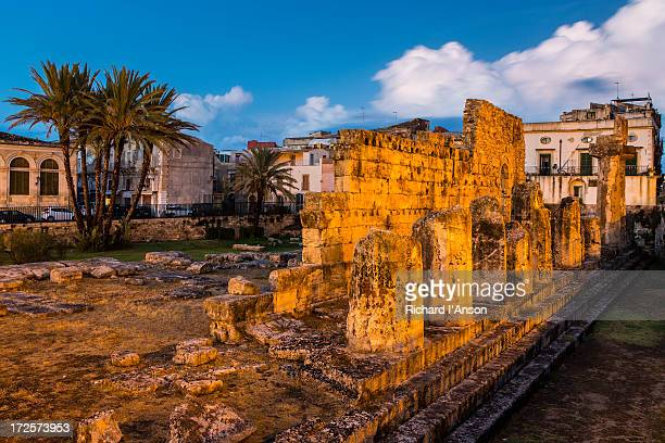 Ruins of the Temple of Apollo on Ortygia