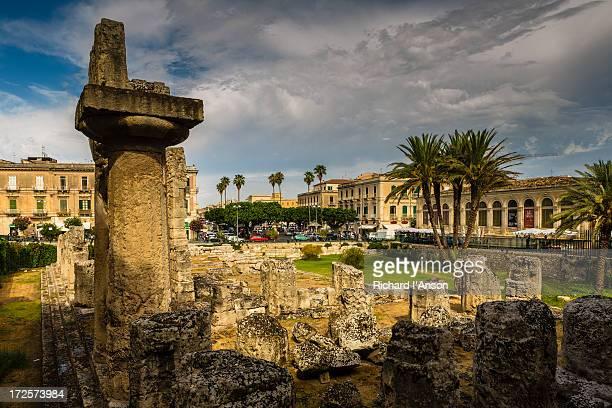 Ruins of the Temple of Apollo on Ortygia