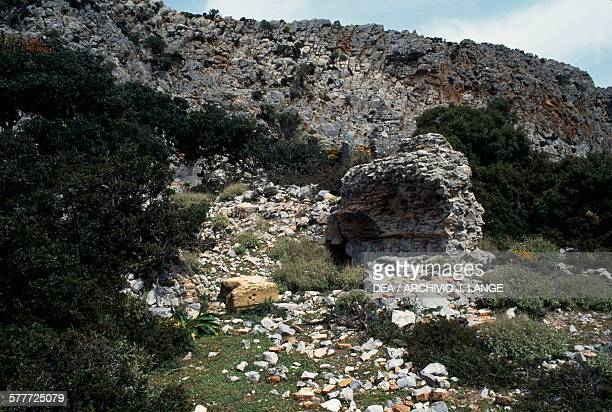 Ruins of the temple of Diktynna peninsula of Rodopou Crete Greece