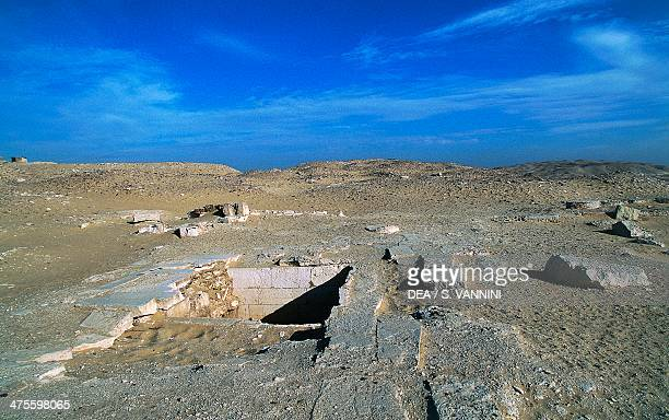 Ruins of the tombs Funerary Complex of Djoser Saqqara Memphis Egypt Egyptian civilisation Old Kingdom Dynasty III