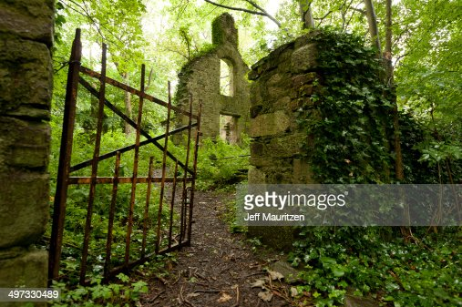 Ruins of the White Church of Milltown, County Kerry, Ireland.