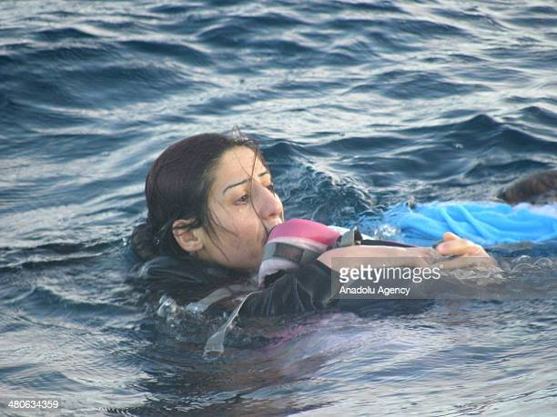 Rukhsan Muhammed one of the passengers of the boat carrying Syrian refugees to Greek Islands fights for her life after the boat sinks at Aegean Sea...