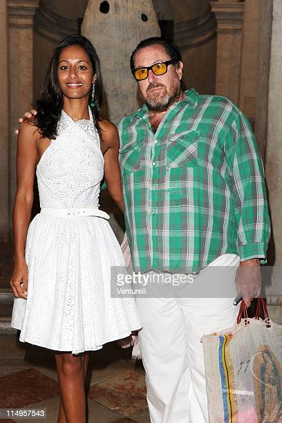 Rula Jebreal and Julian Schnabel arrive at the Julian Schnabel Opening Exhibition during the 54th International Art Biennale on May 31 2011 in Venice...