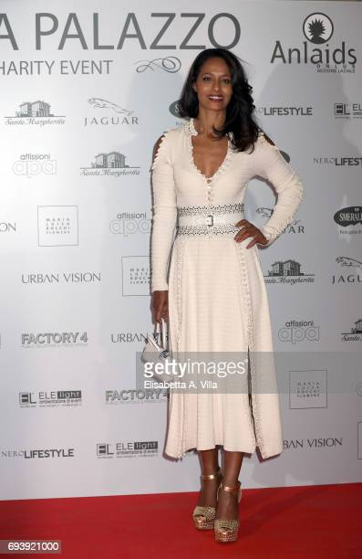 Rula Jebreal attends Anlaids Gala at Palazzo Doria Pamphilj on June 8 2017 in Rome Italy