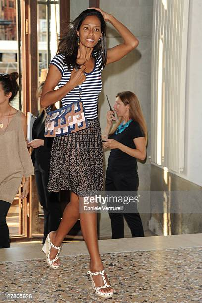 Rula Jebreal attends the 'Hogan And Big Bambu' Cocktail Party during the 54th International Art Biennale on June 2 2011 in Venice Italy