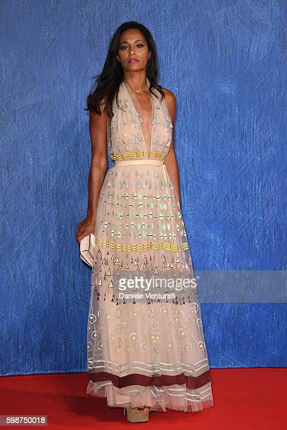 Rula Jebreal attends the premiere of 'Franca Chaos And Creation' during the 73rd Venice Film Festival at Sala Giardino on September 2 2016 in Venice...