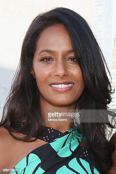 Rula Jebreal attends the Sophie Theallet fashion show during Spring 2016 MADE Fashion Week at Shop Studios on September 15 2015 in New York City