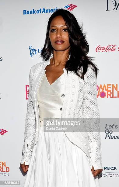 Rula Jebreal attends the Women in the World Summit 2013 on April 4 2013 in New York United States